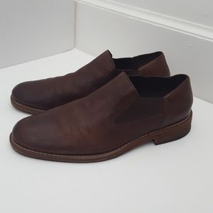 Cole Haan rustic leather brown loafer size 8.5M